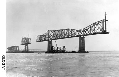 Huey P. Long Bridge Construction in 1932
