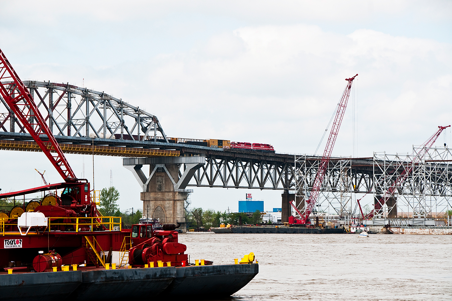 Huey P. Long Bridge Construction