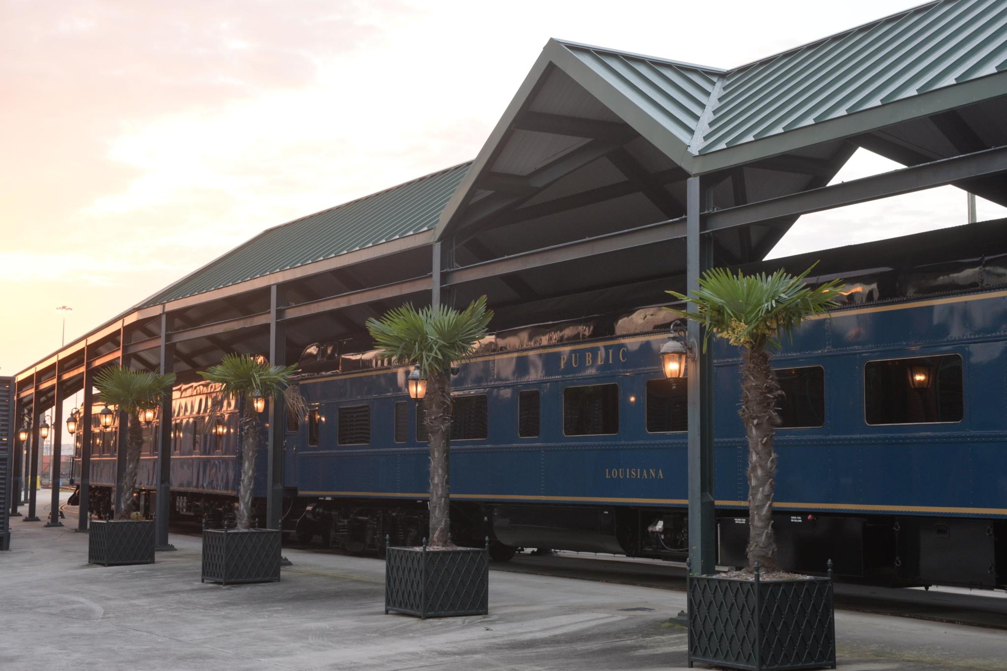 Rail car at terminal
